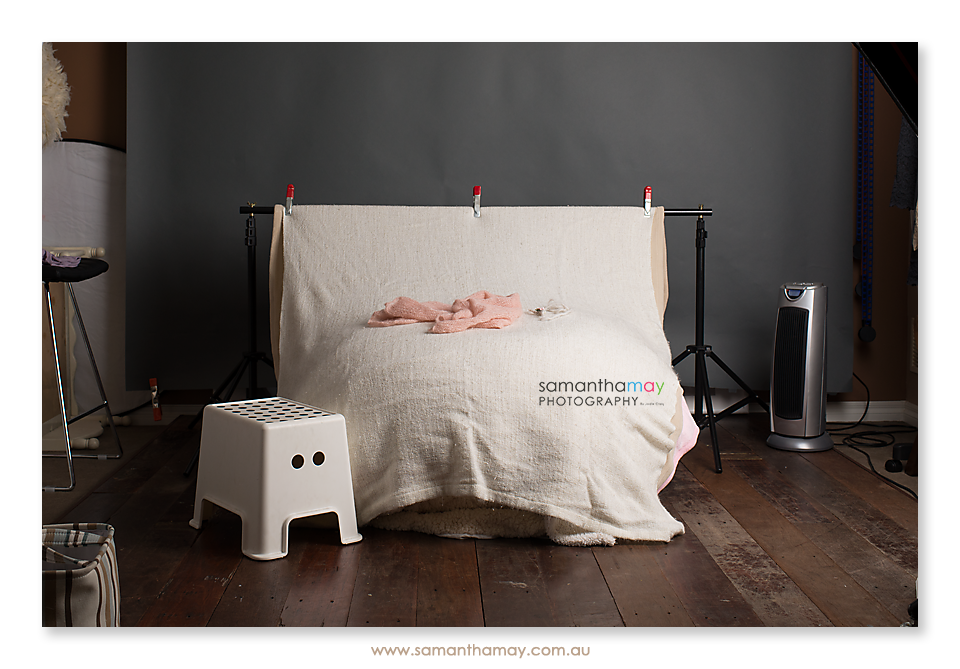 inside the perth newborn photo studio