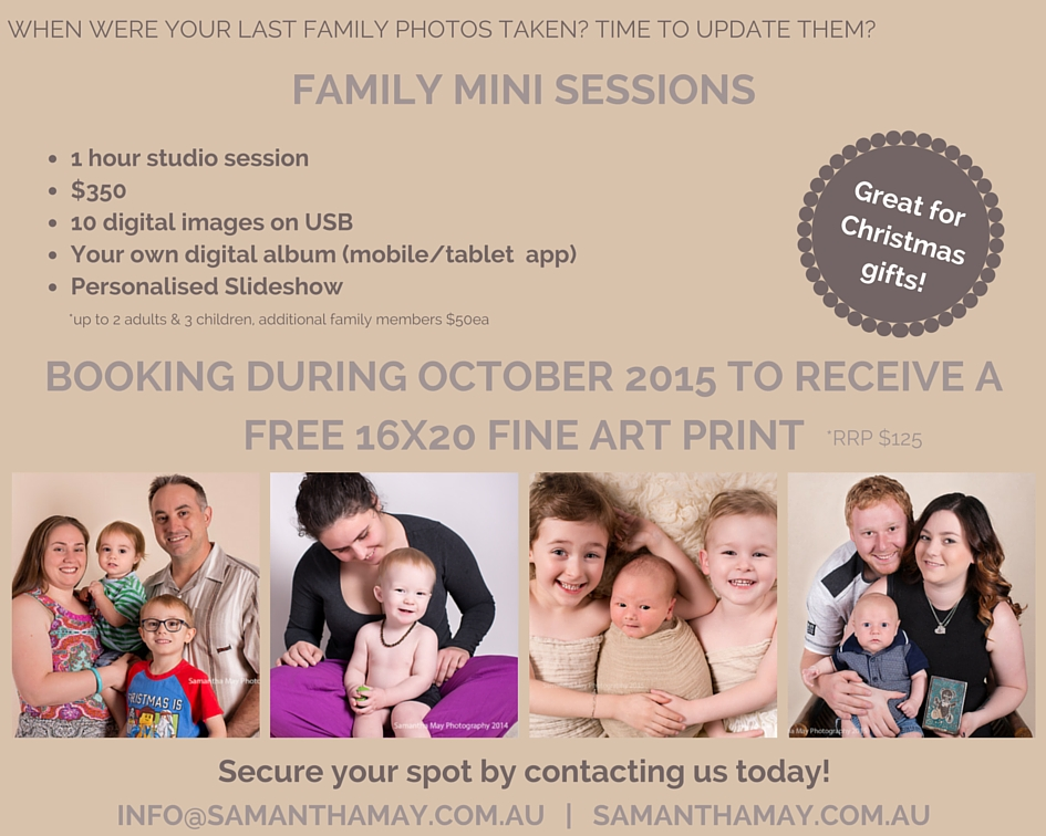 Perth Family Photography Promotion