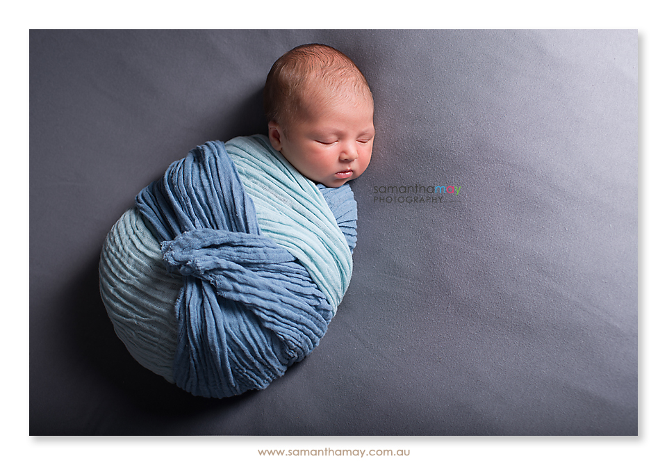 wrapped newborn baby perth photographer
