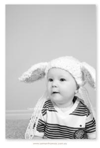 sitting baby boy black and white perth