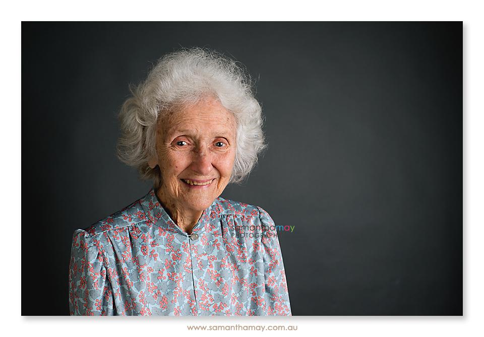 Alzheimer's Disease & Dementia colour portrait of granny