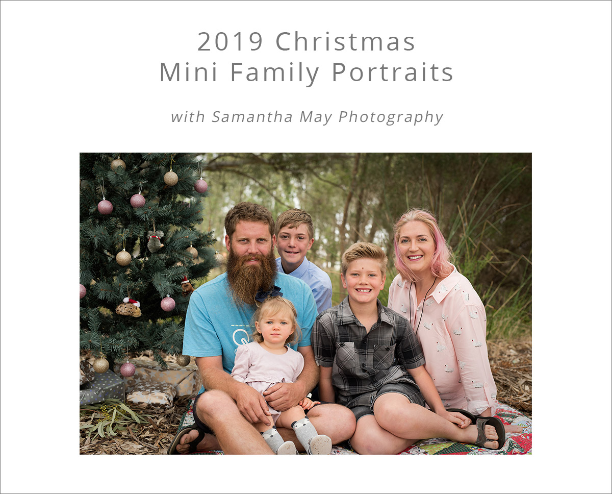 2019 christmas mini family portraits with samantha may photography perth